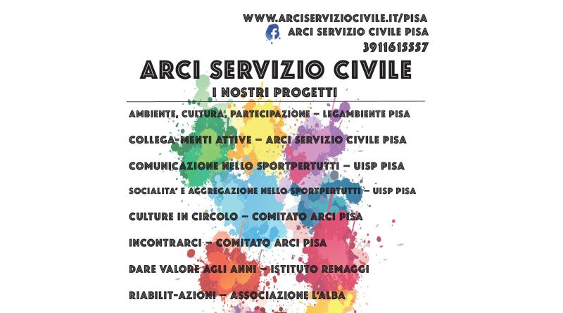 SERVIZIO CIVILE NAZIONALE IN ARCI SERVIZIO CIVILE PISA